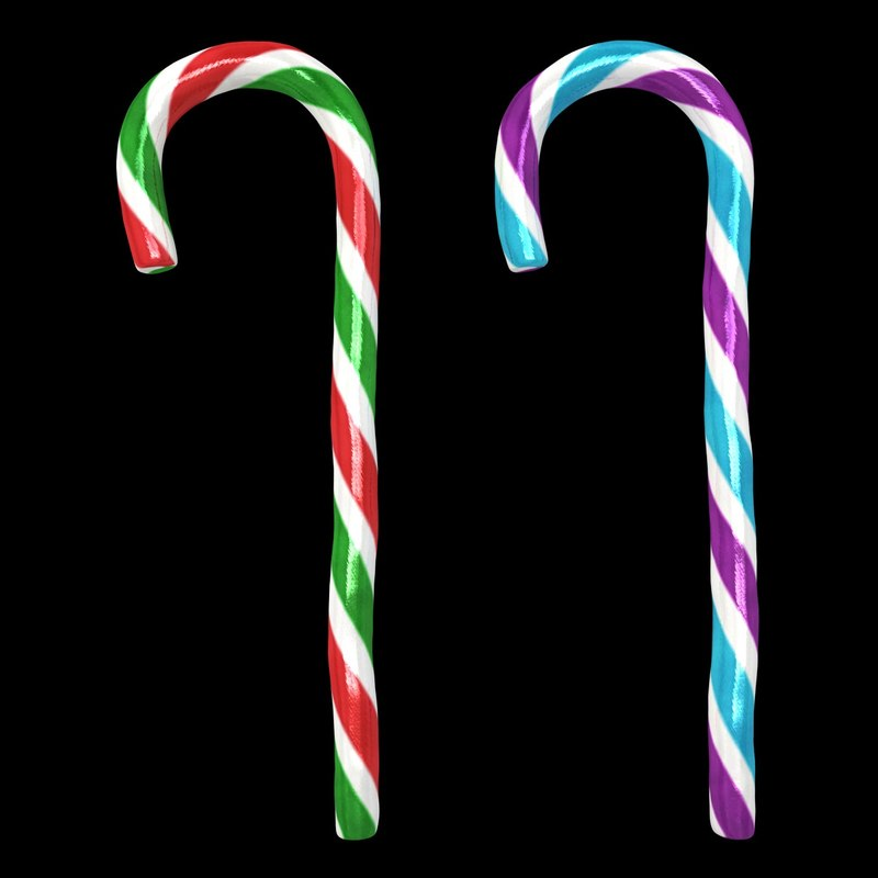 3d realistic candy cane 03