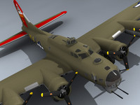 b-17 fortress little 3d model