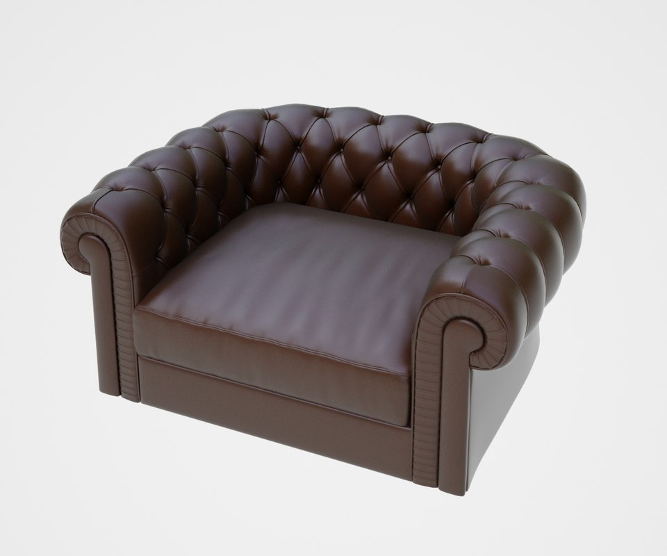 3d model arm chair