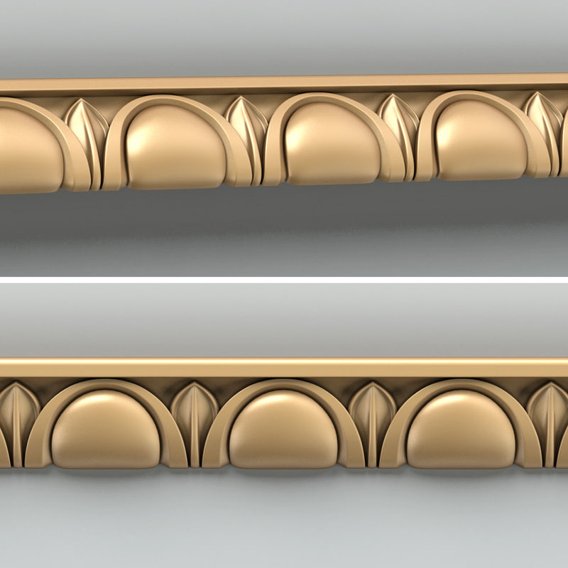 decorative molding 3d max
