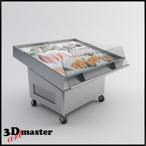 3d refrigerator table fish model
