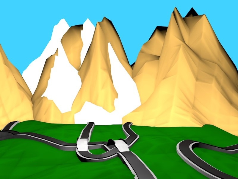 3d model road environment ro