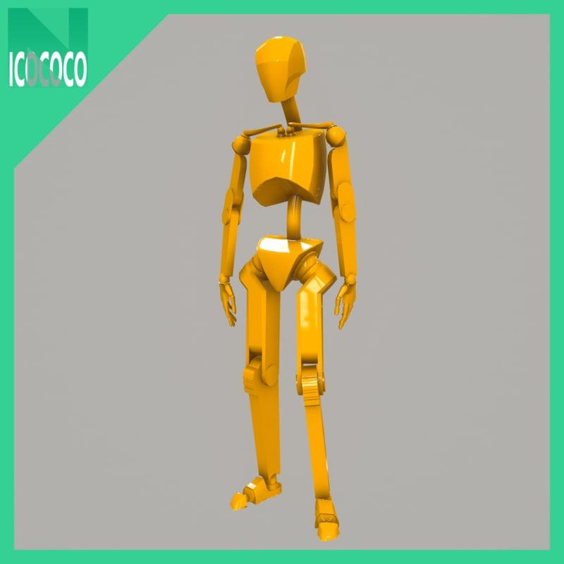 free mannequin male 3d model