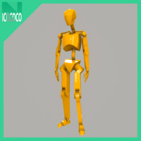 free mannequin male 3d model