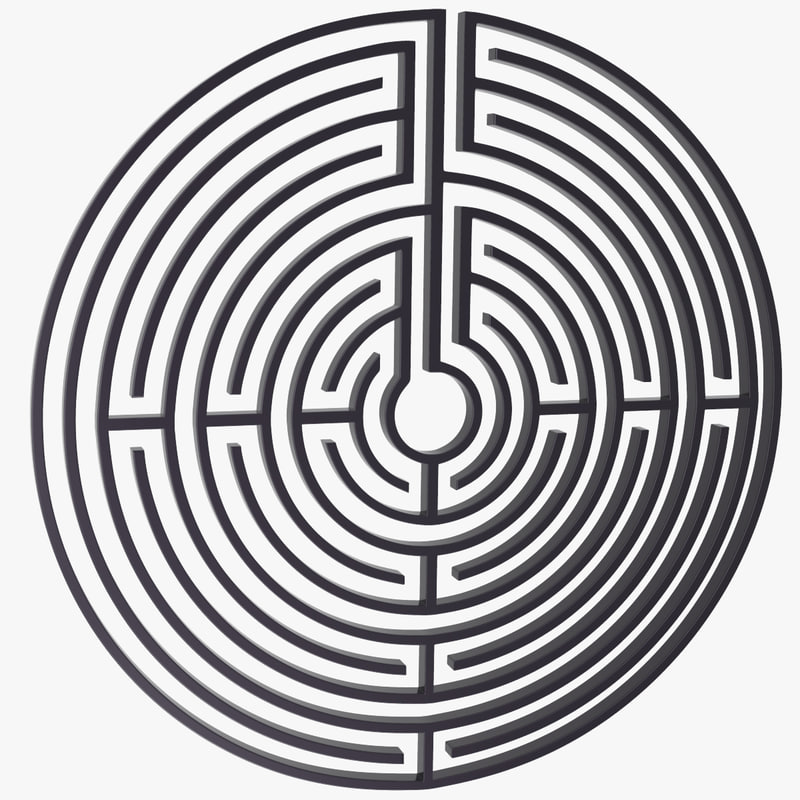 3d maze labyrinth geometry model