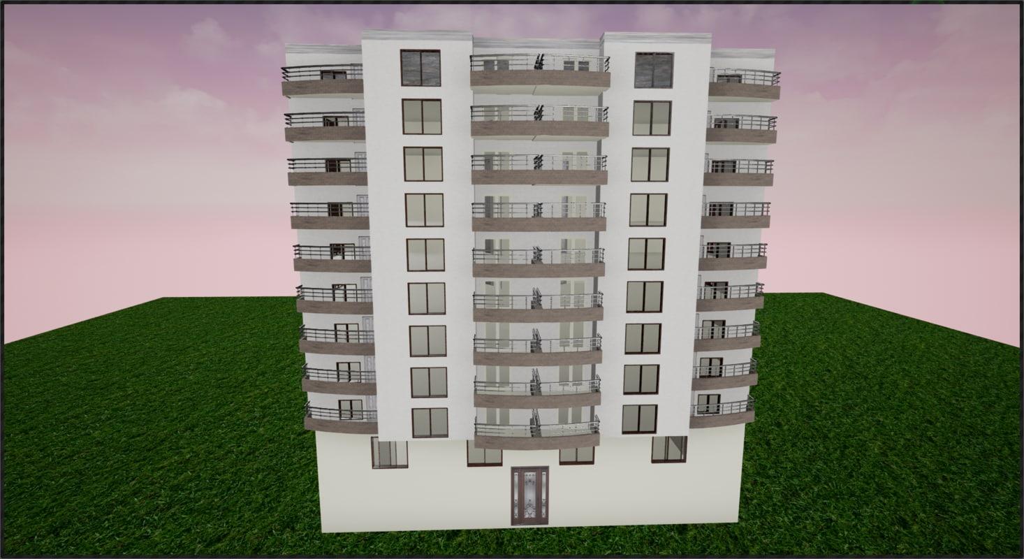 3d apartment model for Apartment model