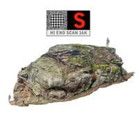 3d model giant stone boulder 16k