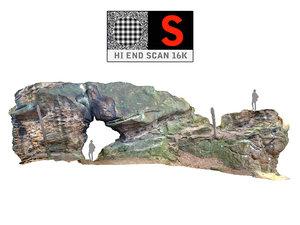 giant stone boulder 16k 3d obj