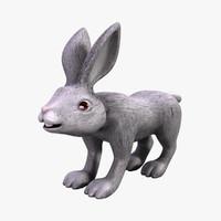 3d model of cartoon rabbit