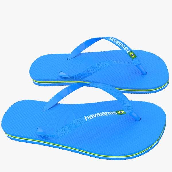 havaianas sandals 3d model
