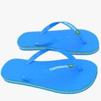 havaianas sandals 3d max
