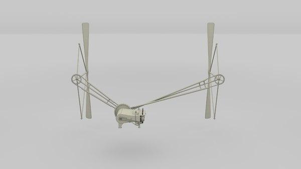 wright flyer propulsion obj