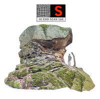 Giant stone boulder 16K