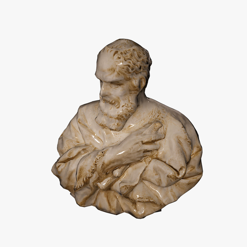 3d model ancient bust galileo