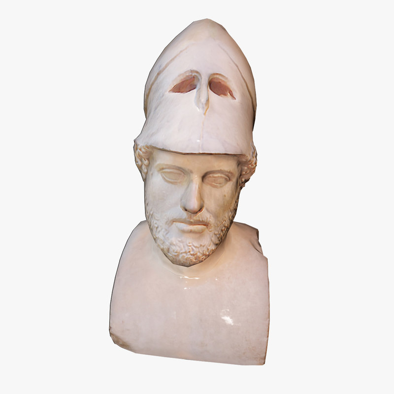 ancient bust pericle 3d max