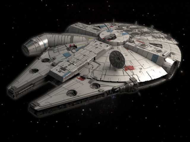 3ds movie millenium falcon space ship