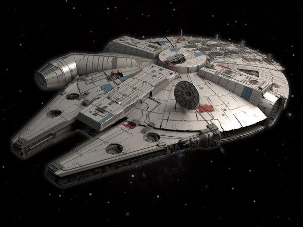 3ds movie millenium falcon space ship