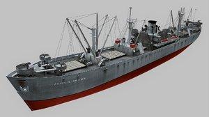 liberty ships 3d model