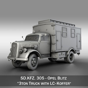 3d model sd - 3t opel blitz