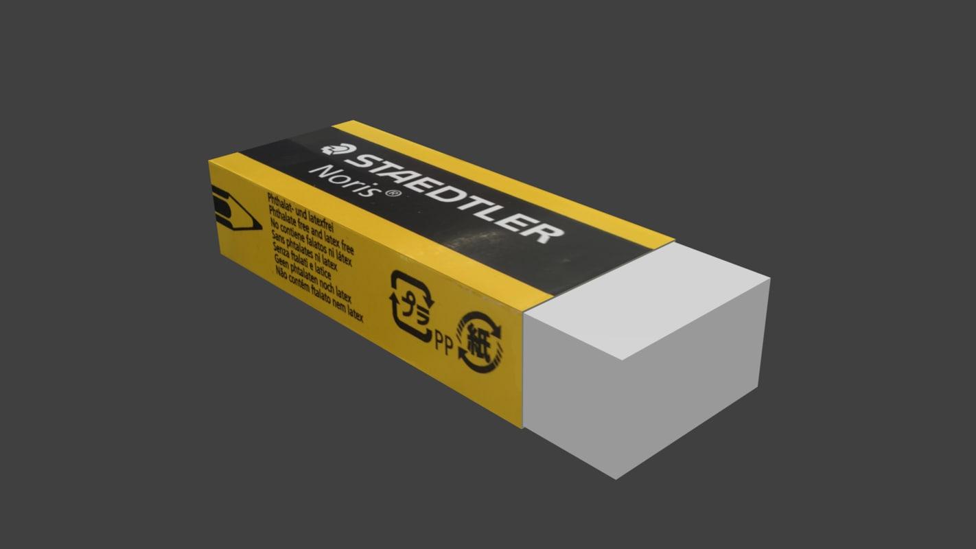 3d model staedtler eraser