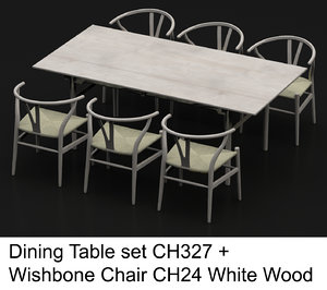 hardwood dining table wishbone chair max