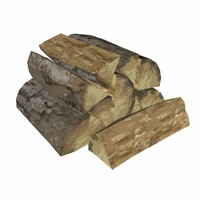 stylized pile wood 3d model