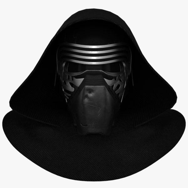 3ds kylo ren helmet