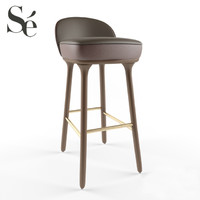 3d model stylish beetley bar stool