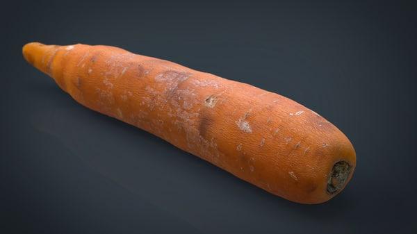 3d model of carrot