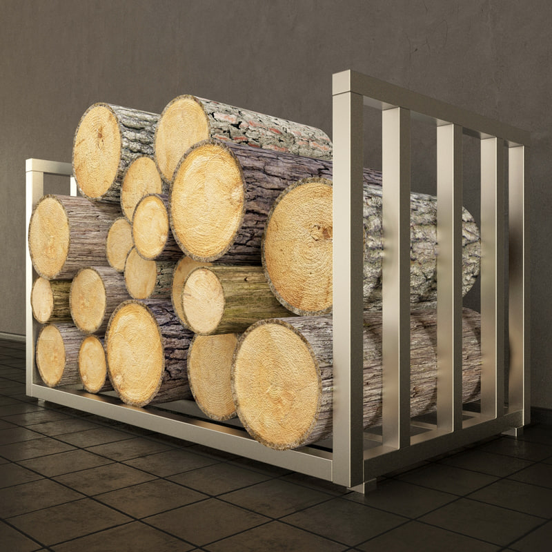 firewood wood 3d max