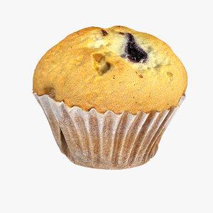 3d raspberry muffin model
