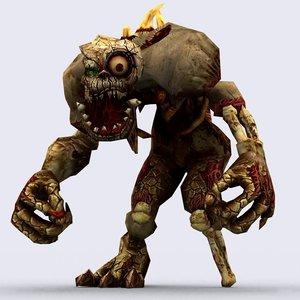 3d fantasy ghouls pack - model