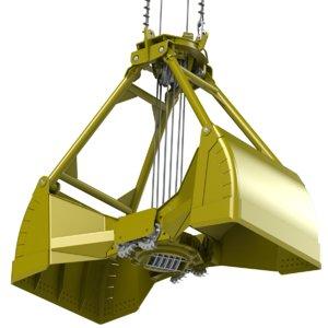3d model equipment tons grapple 20