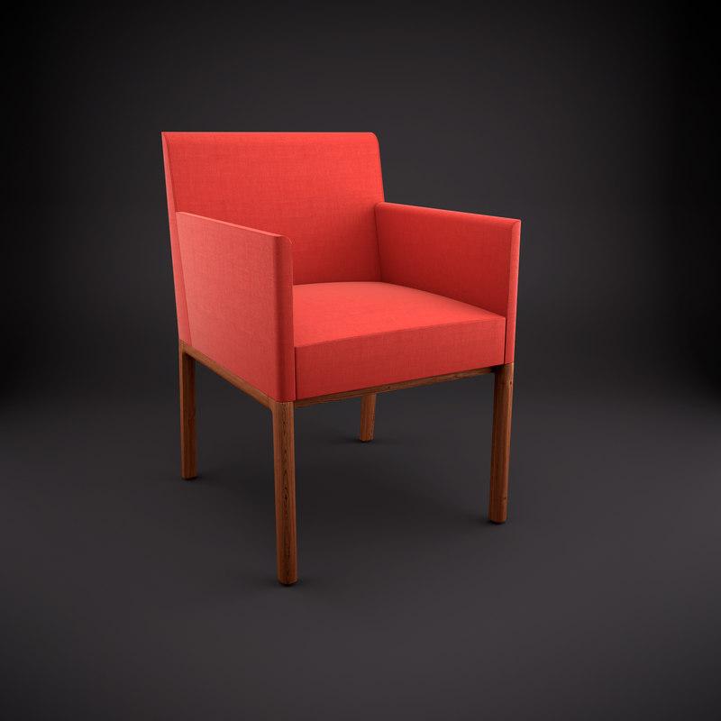 3d nessel armchair model