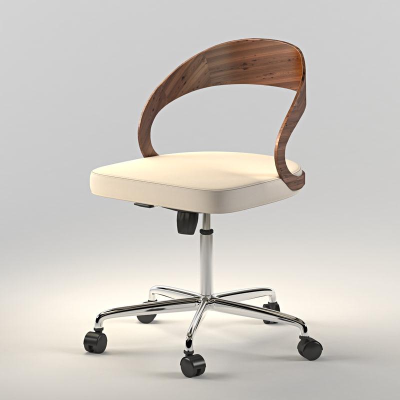 armchair girado 3d max
