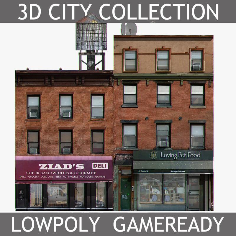 new york brick house 3d model