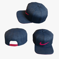 3d model baseball cap neke swoosh