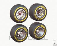 3d model f1 tire