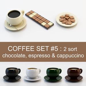 3d coffee set 5: 2