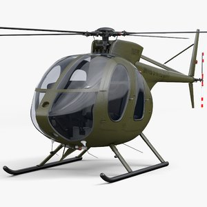 hughes md 500e 3d model