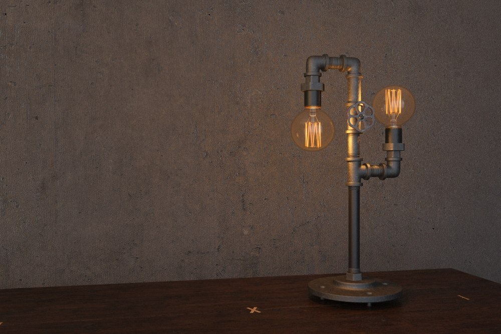 3d table lamp edison pipes