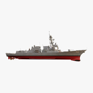 3d model of uss forrest sherman