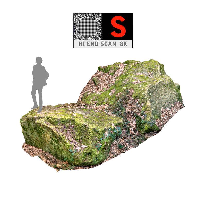 rock 8k stones 3d model