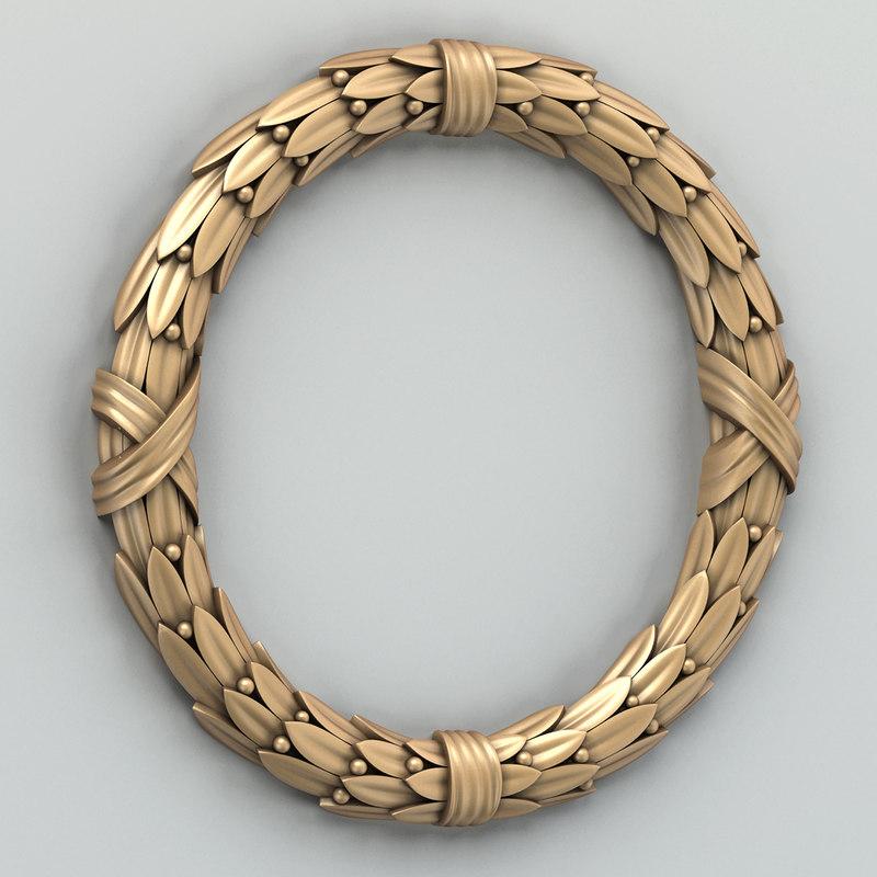 3d model decorative wreath