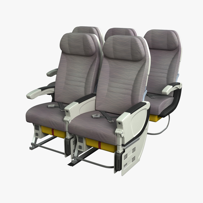 economy airplane seat airbus a380 3d obj