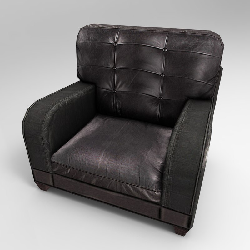 leather armchair 3d model