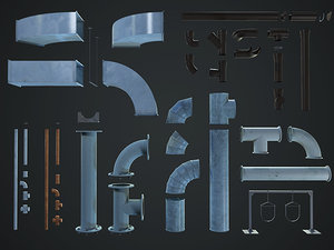 components pipeline 3d 3ds
