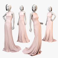 fbx dress mannequin silk