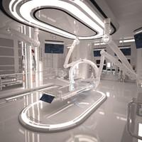 Sci Fi Laboratory Room