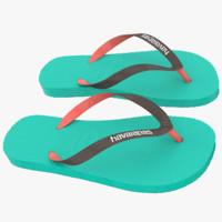3d model havaianas sandals